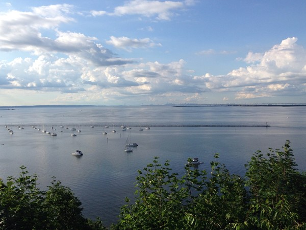 Another fantastic view of New York City and the Atlantic Highlands Harbor from Ocean Boulevard