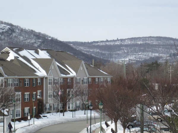 Winter view of Franklin Crossing and Ramapo Mountains