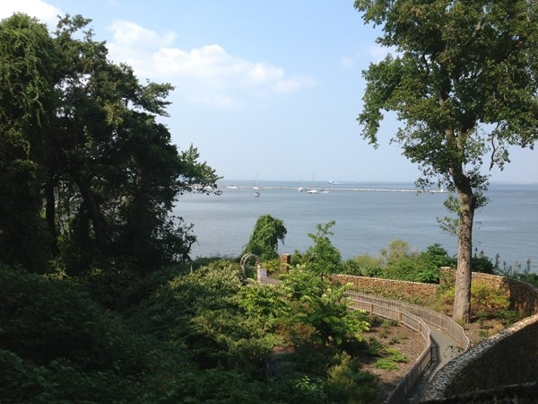 View from Henry Hudson Springs of the Atlantic Highlands Harbor
