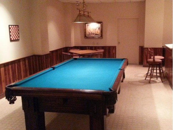 The Billiard Room is right off the Social Room