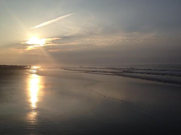 Sunset on the Sea Isle surf