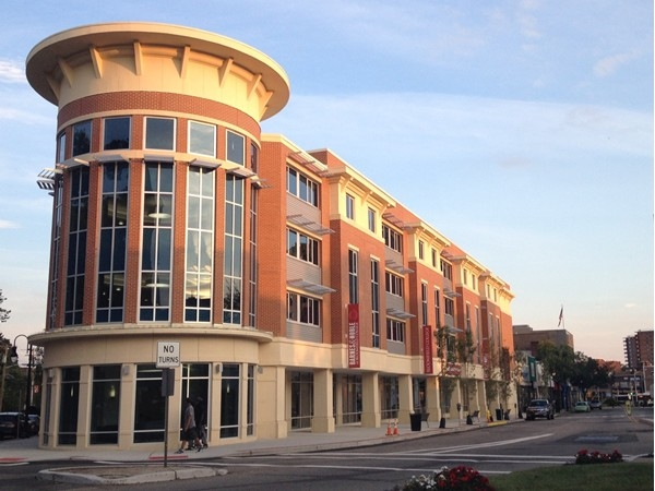The new completed dorms of Bloomfield College; with Starbucks and Barnes & Noble Bookstore