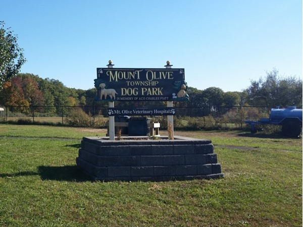 The nearby Mount Olive Dog Park features two areas - one for large dogs, one for small