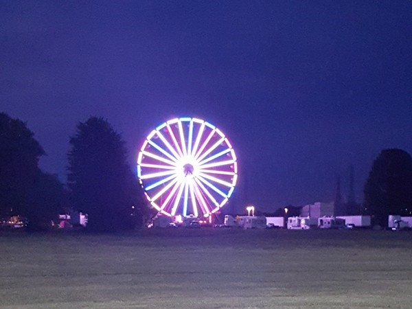 The mark to the start of summer! The carnival is getting ready for the weekend!