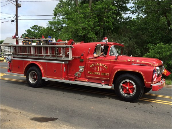 Love the old fire trucks
