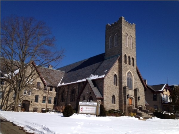 The First United Methodist Church on West High Street