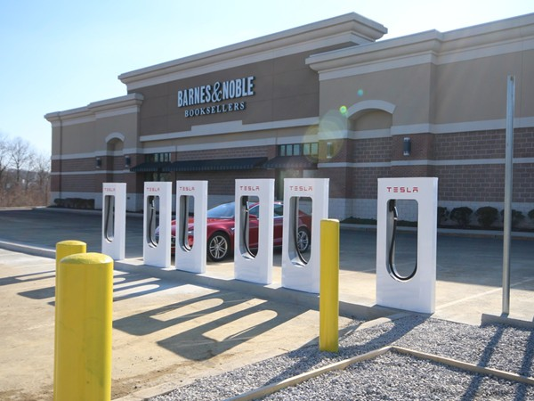 Tesla Charging Station - Hamilton Marketplace Shopping Center