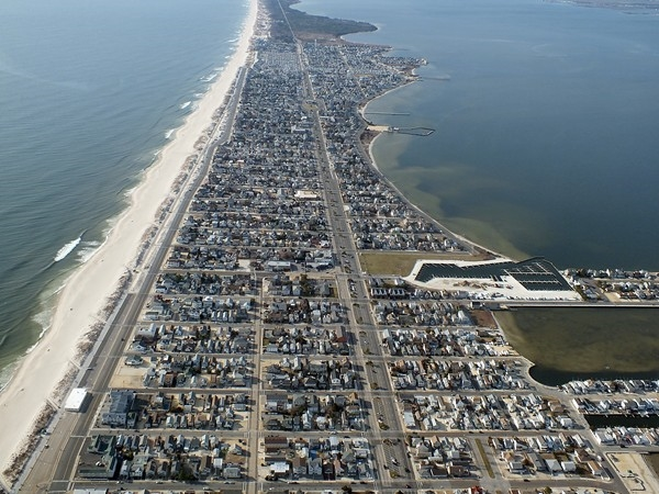 Seaside Park nestled between the Atlantic Ocean & the Barnegat Barrier Island