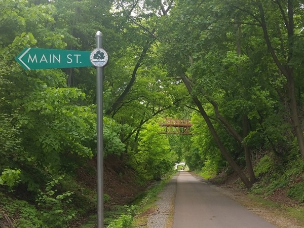 The Middlesex Greenway is a 3.5 mile walking path accessible from Main Street
