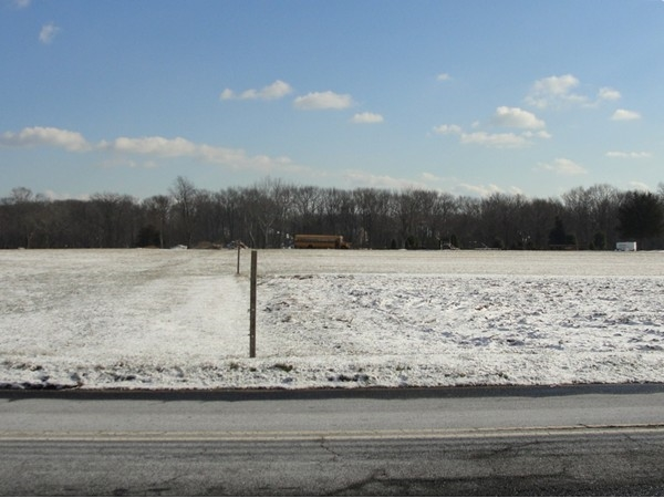 Winter view of Paterson's farm from Vanderveer Rd, Howell