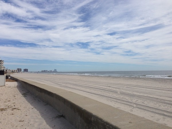 Longport Beach view of Atlantic City