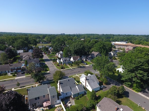 Aerial view of New Milford looking towards Graphic Blvd and River Road