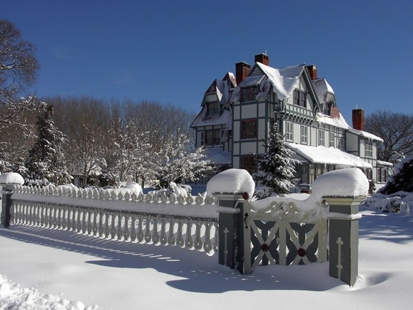 Winter fun at the Physick Estate on Washington Street. Home of Mid-Atlantic Center for the Arts