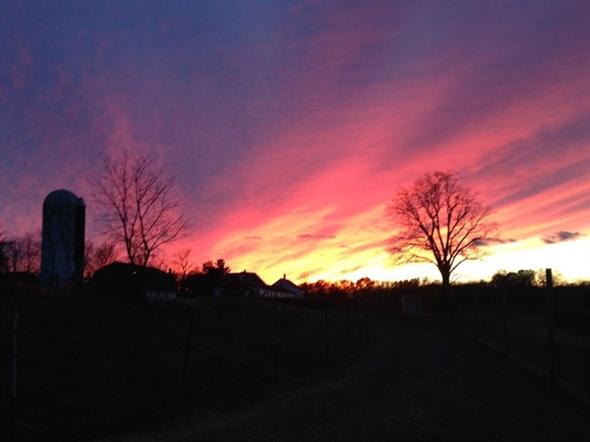 Wagner Farm sunset