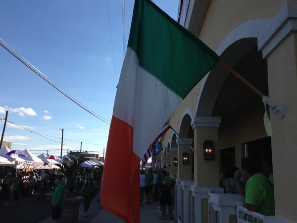 2013 Irish Festival, Irish Flag