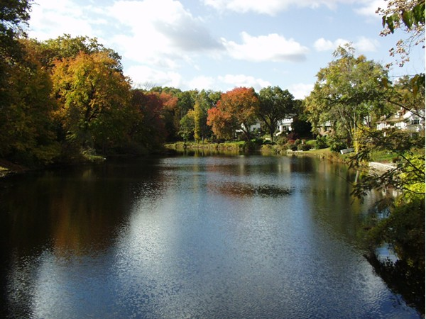 View of Bogert's Pond from the bridge