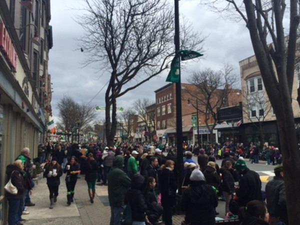 Lousy weather but a great turn out for this years Saint Pat's parade