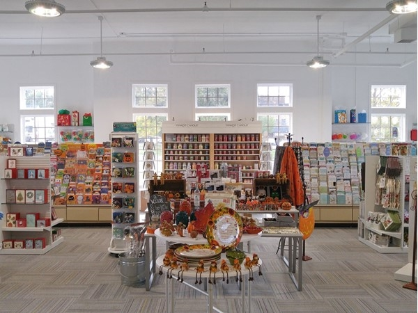 View of the main gift and card area in this beautiful new shop in Long Valley