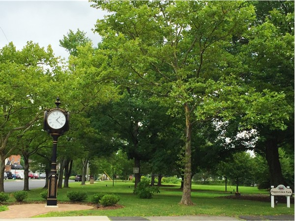 Peppertown Park - featuring the stylish and classic Peppertown Park clock