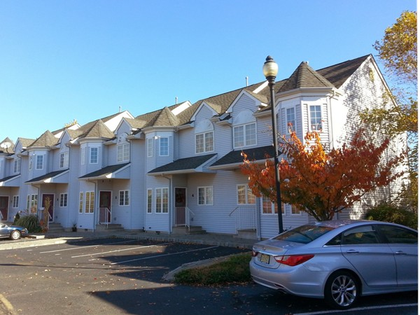 The Cobblestone Court townhouses in West End Long Branch are approximately 1256 square feet