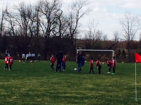 Saturday soccer fun in Cranbury Millstone Park