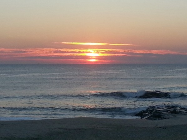 Sunrise in October on the Long Branch beachfront