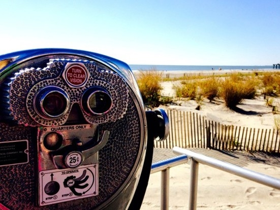 Take in the views at 11th street on Ocean City's boardwalk