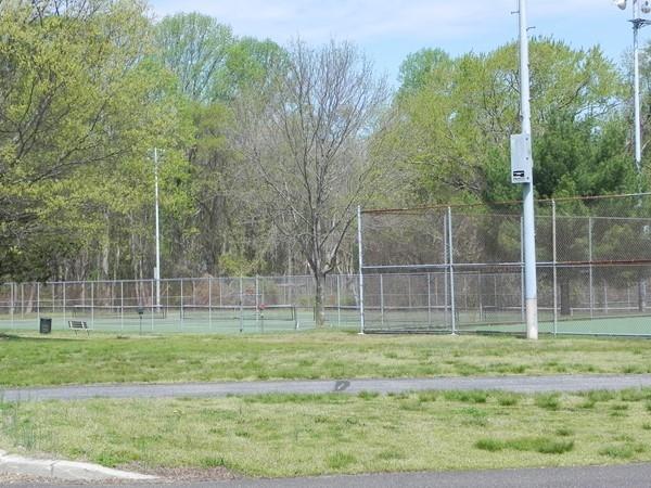 Tennis courts in Washington Lake Park