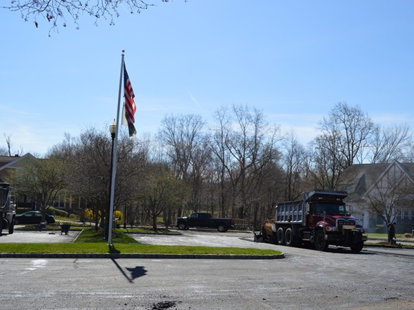Roads in the Ramapo River Reserve getting paved and ready for summer!