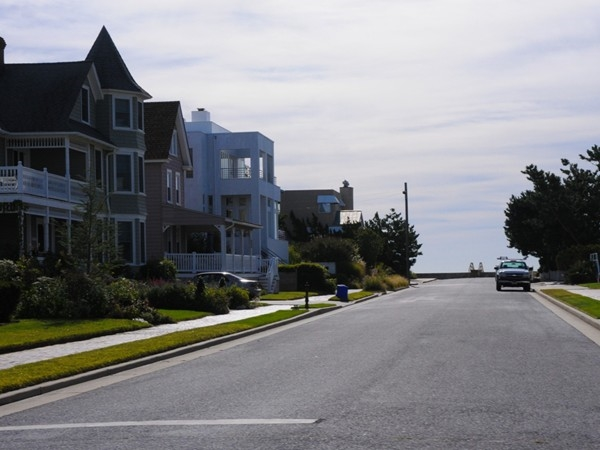 Unique homes line the streets of Longport