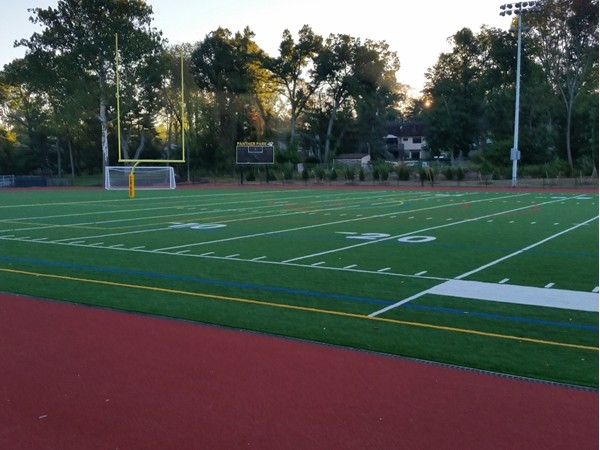 Panther football field and track features events for Cedar Grove schools and its community