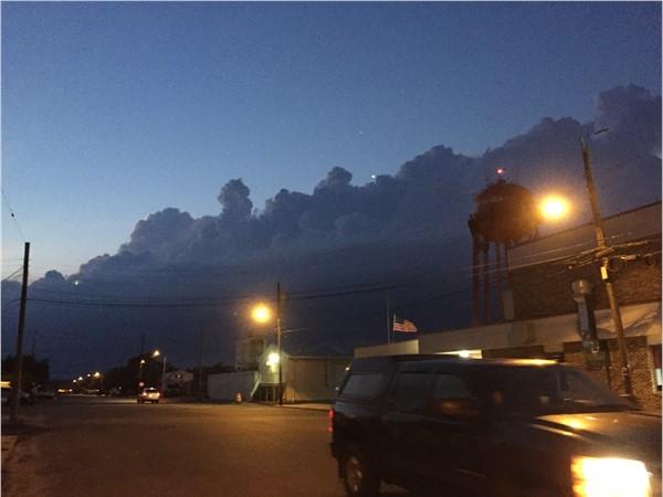 Storm clouds rollin in
