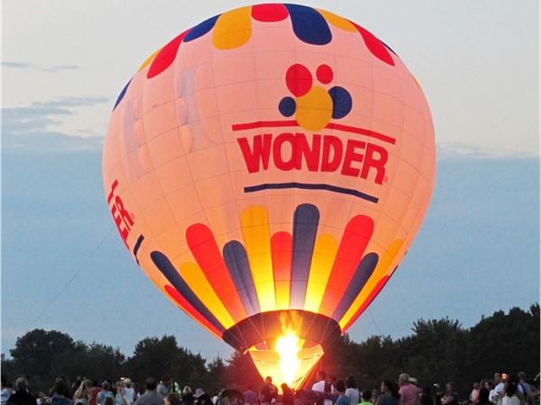 Wonder Bread balloon launch glow