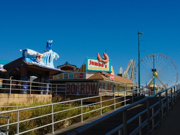 The famous Morey's Piers in Wildwood