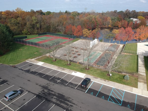Homestead clubhouse tennis courts