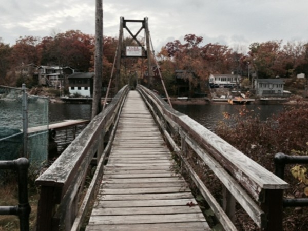 Footbridge across Cranberry Lake in Byram Township