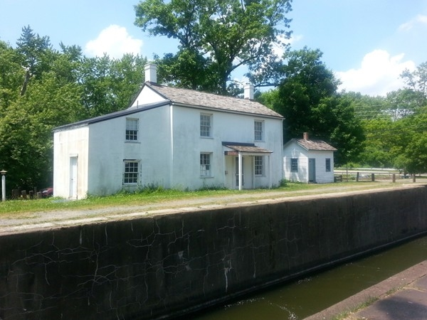 Historic Lock House on the Delaware and Raritan Canal