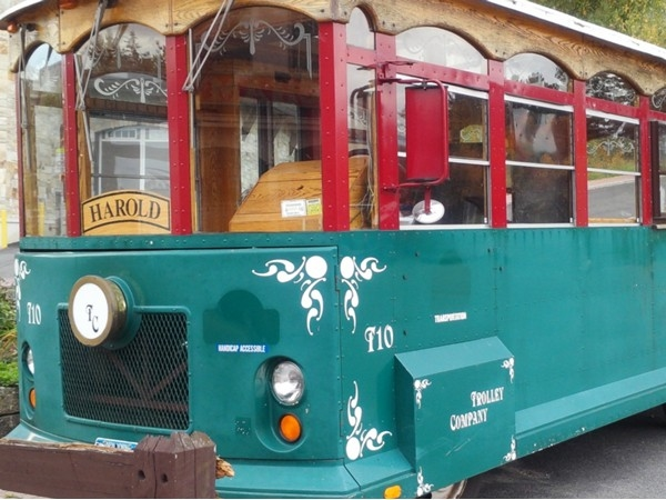 Hop right on the trolley to see all the sights of Lake Placid, the home of the 1980 Olympics