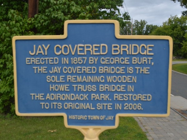 The Jay Covered Bridge is a favorite historical site in our area