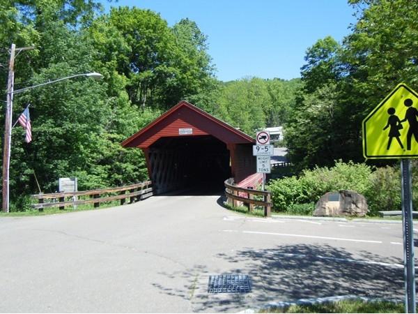 Rare history covered bridge - still in use!