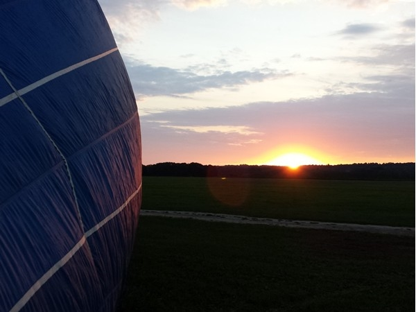 Sunrise at the Geneseo Airport. A great place to launch a hot air balloon
