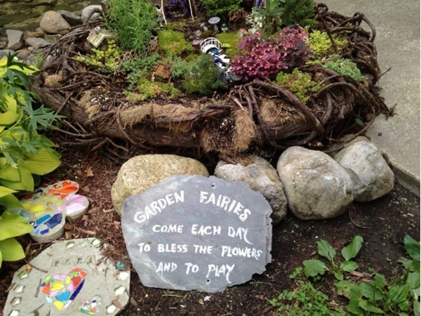 Fairy Garden at the Cazenovia Library and Museum