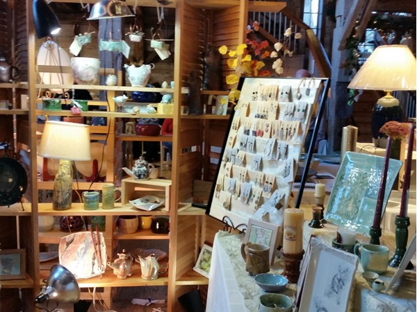 Local potters display works of art