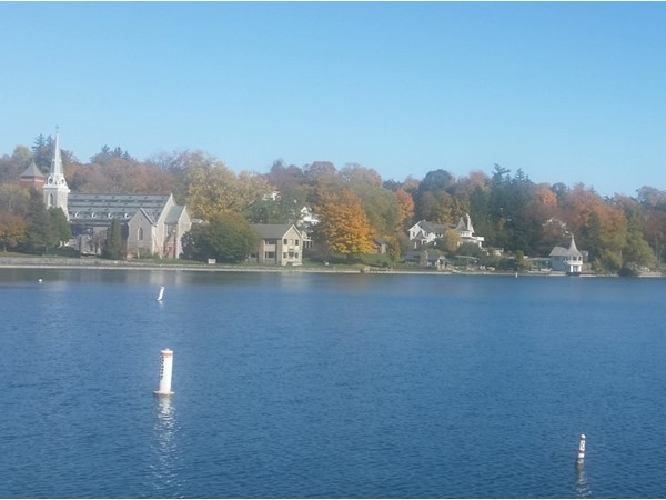 The view of Skaneateles Lake from the pier is always fantastic