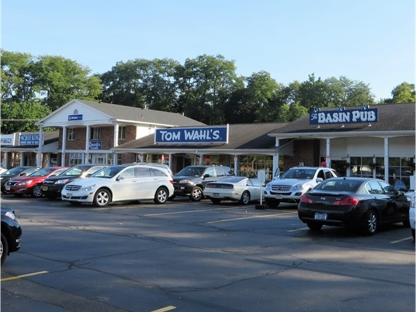 Strip Mall in Bushnell's Basin with a local favorite hamburger joint - Tom Wahl's