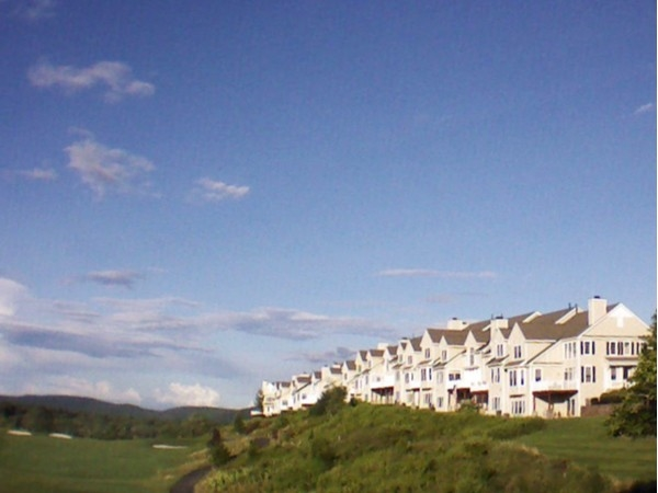 Townhouses on the golf course