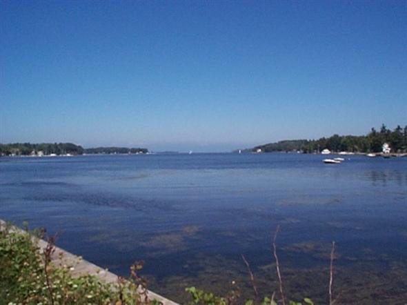 Little Sodus Bay looking towards Lake Ontario, east of Blind Sodus Bay which is east of Port Bay