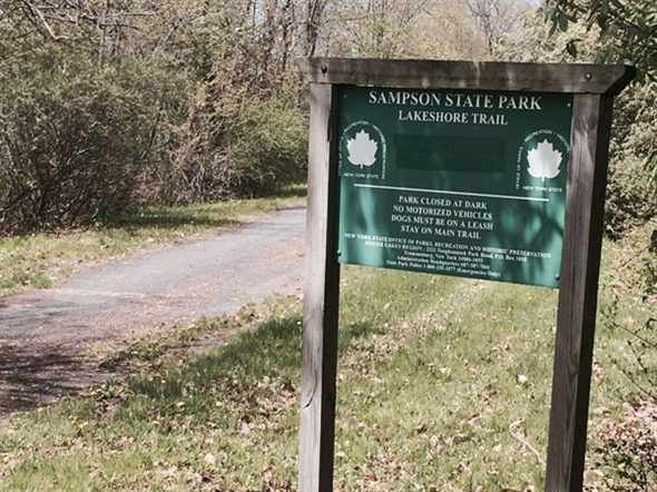 You can walk this awesome trail from Willard all the way to Sampson State Park