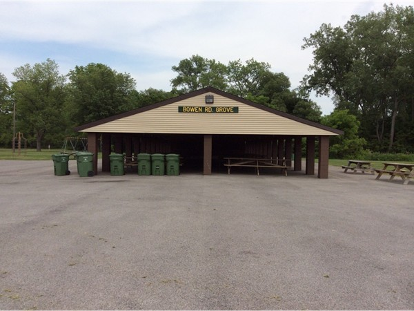Public picnic shelters located off Bowen Rd in Lancaster NY