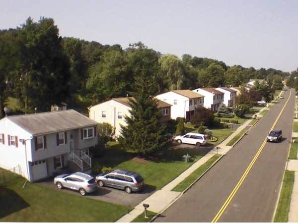 An aerial view of Village Woods in Monroe